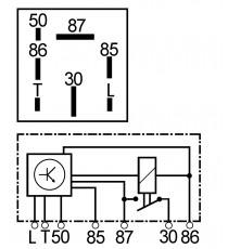7-pinowy przekaźnik wstępnego podgrzewania silnika lombardini jibs