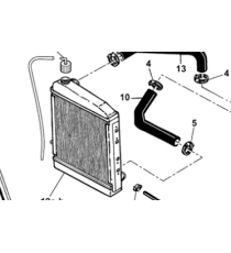 Microcar Virgo , MC1, MC2 (silnik Lombardini Focs) dolny wąż chłodzący