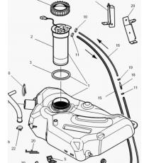 Zbiornik paliwa Microcar MC1/MC2, MGO 1/2, M8, F8C, Ligier JS RC, Flex