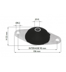 silent block engine chatenet media i barooder, speedino (1 faza)