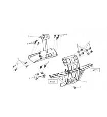 zestaw przedniego i tylnego mocowania silnika microcar mgo 2,m8,8c,Ligier-jsrc L